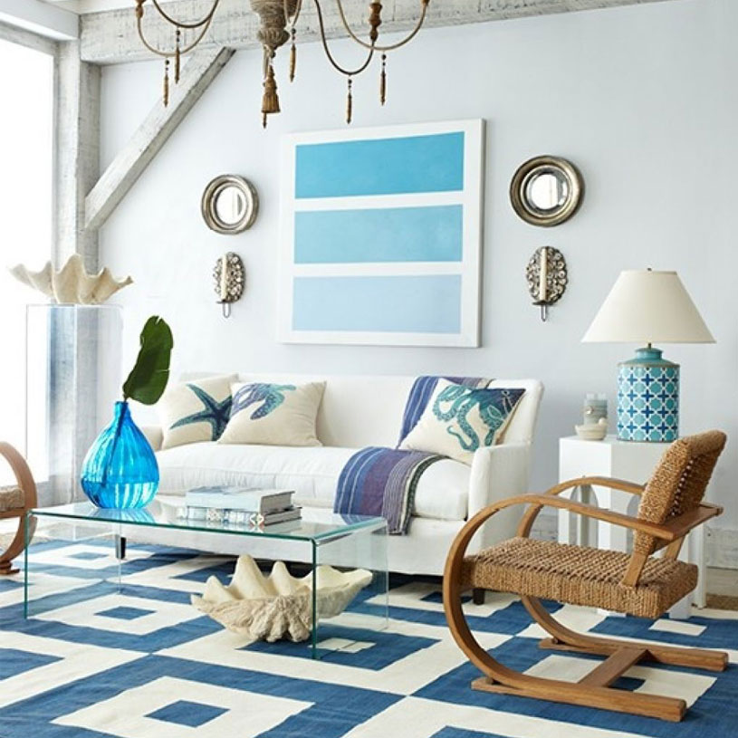 Furnishing Around Art: Beach-inspired Living Room for under 1000 ...