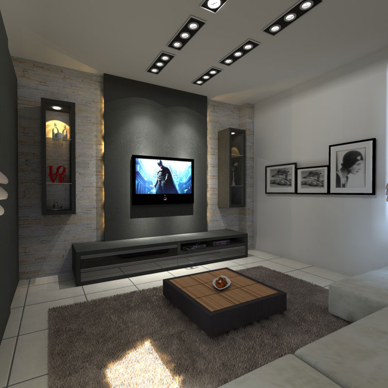 Home Entertainment Spaces: Furnishing Around Art: Simple Entertainment Room Part 2