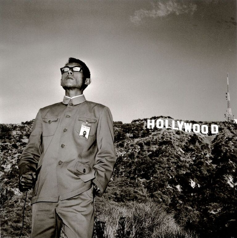Hollywood Hills, California by Tseng Kwong Chi (1979) Silver gelatin print 180 x 180 cm Edition of 6 + 2 AP Courtesy of Ben Brown Fine Arts