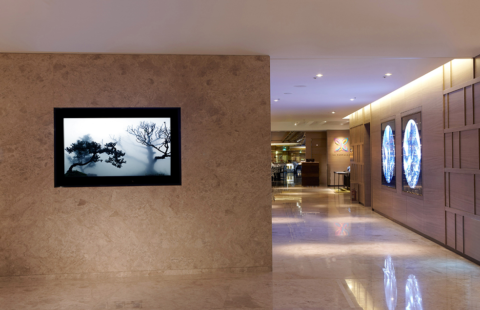 "Wu Chi-Tsung's ""Landscape in the Mist"", an onscreen video installation in the Humble House Hotel in Taipei."