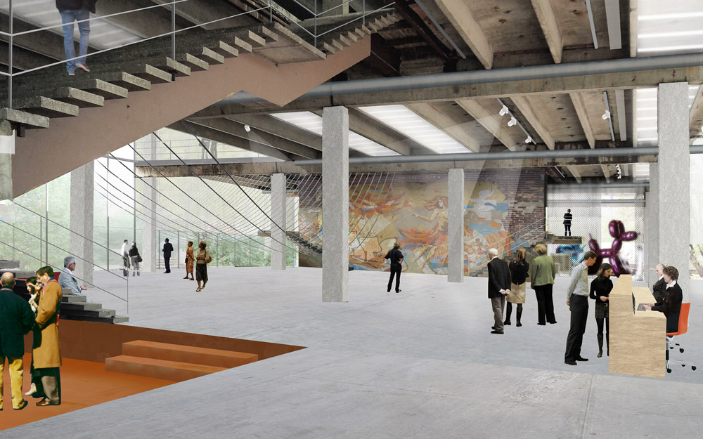 Artist rendition of the Garage Museum of Contemporary Art