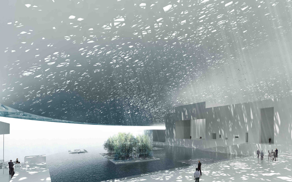 Artist rendition of the Louvre Abu Dhabi