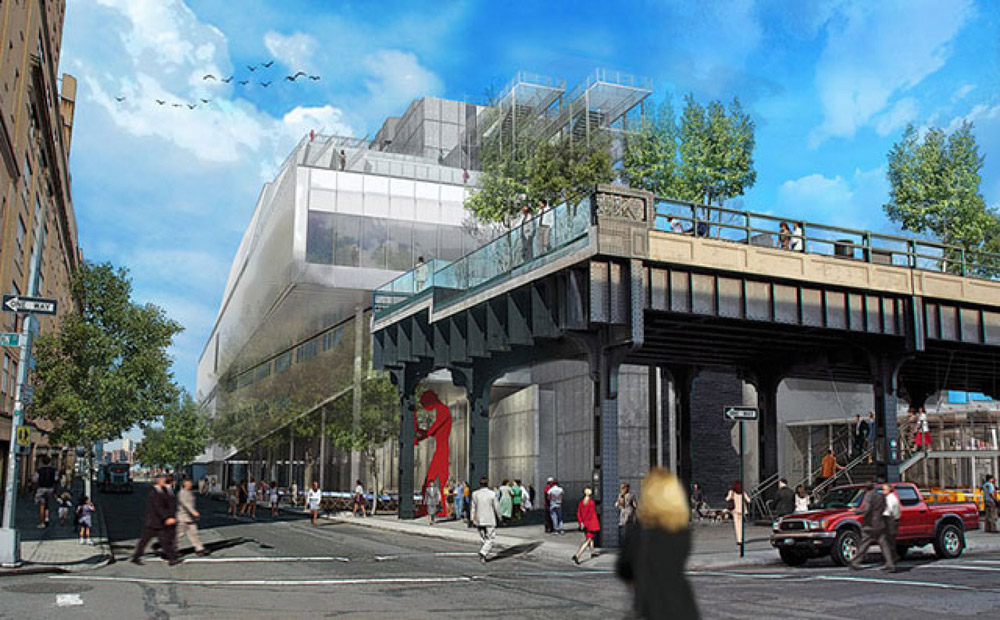 Artist rendition of the new Whitney Museum