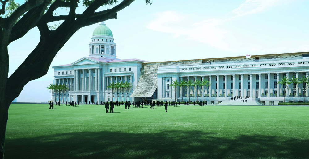 Artist rendition of the National Gallery Singapore